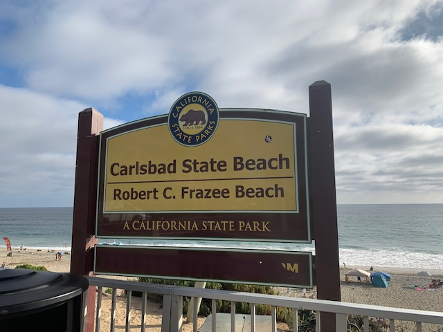 Carlsbad State Park Sign